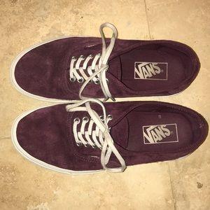 3278a2e0382dfa Vans Shoes - Purple  Burgundy Suede Vans